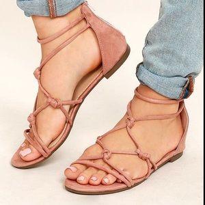 Designer Betani Rosabel Suede Gladiator Sandals